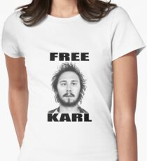 workaholics free karl show shirt Womens Fitted T-Shirt