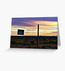 West Texas Desert Sunset Greeting Card
