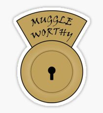 Muggle worthy Sticker