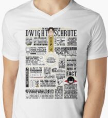 The Wise Words of Dwight Schrute (Light Tee) Men's V-Neck T-Shirt