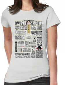 The Wise Words of Dwight Schrute (Light Tee) Womens Fitted T-Shirt