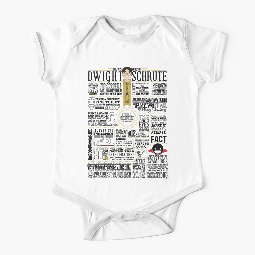 The Wise Words of Dwight Schrute (Light Tee) Baby One-Piece