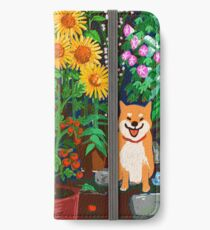 Shiba in a Garden iPhone Wallet/Case/Skin