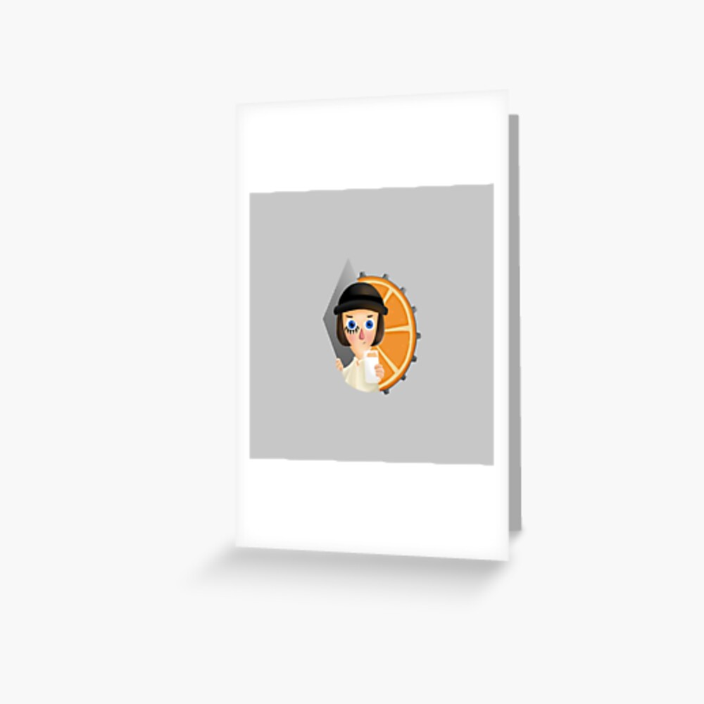 Milk - A Clockwork Orange Greeting Card