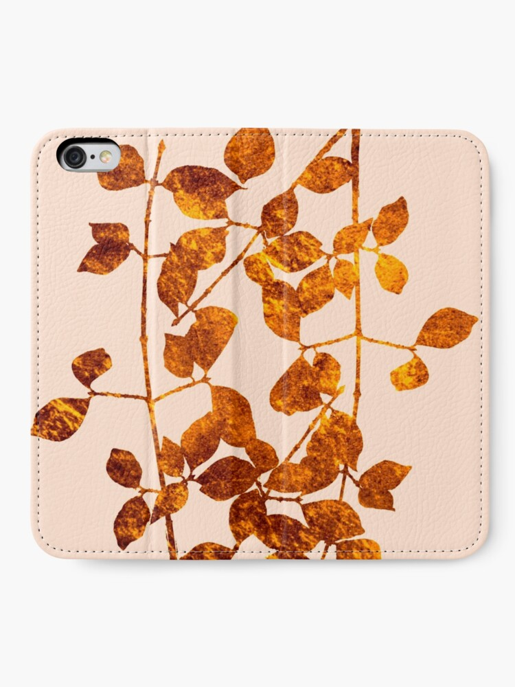 Alternate view of fall golden leaves iPhone Wallet