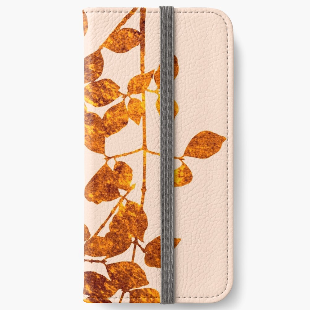 fall golden leaves iPhone Wallet