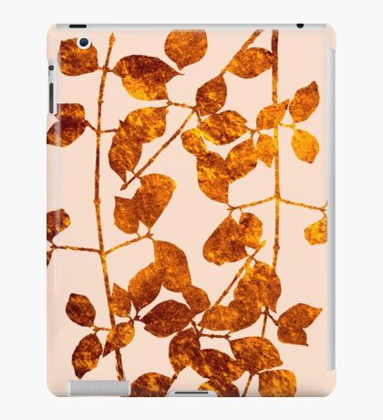 fall golden leaves iPad Case/Skin