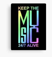 Keep The Music - colorful 2 Canvas Print
