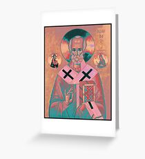Saint Nicholas Icon Greeting Card