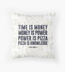 pizza is knowledge Throw Pillow