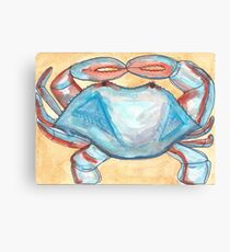Blue Crab Starts with B Canvas Print
