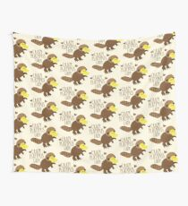 Crazy Platypus lady Wall Tapestry