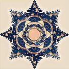Blue Christmas Star by redqueenself