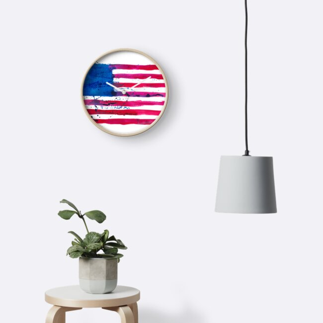Watercolor Flag of the USA by ychty
