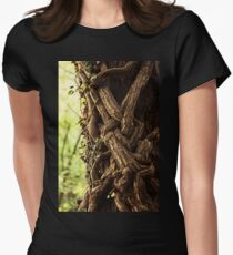 Enchanted forest. Natural photography print Womens Fitted T-Shirt