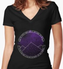 Look At The Stars And Wish | Night Court Women's Fitted V-Neck T-Shirt