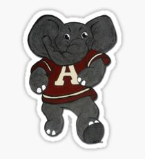Alabama Roll Tide Elephant Mascot Sticker