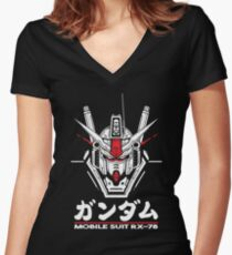 RX-78 Women's Fitted V-Neck T-Shirt