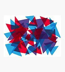 Shattered Red & Blue Photographic Print