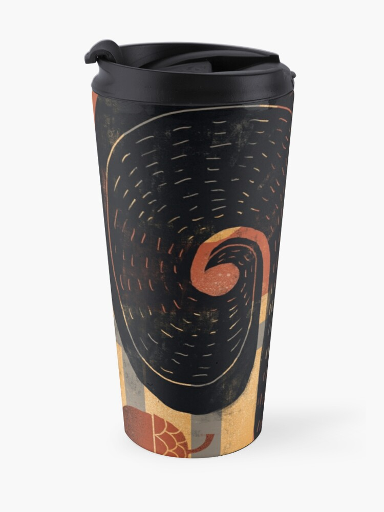 Alternate view of BLACK SQUIRREL WITH NUTS Travel Mug