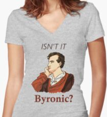 Isn't it Byronic? Women's Fitted V-Neck T-Shirt
