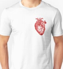 Camiseta ajustada Anatomía del corazón de la vendimia