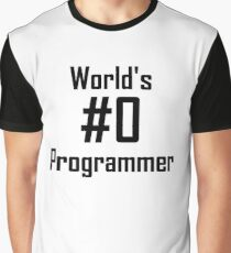 World's #0 Programmer Graphic T-Shirt