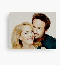 Gillian and David painting Canvas Print