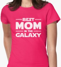 Best Mom Parody Star Wars Style Womens Fitted T-Shirt