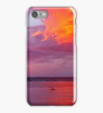 Calm Swan Stormy Sunset iPhone Case/Skin