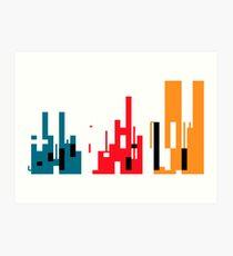 Skyline, Generative Art, Data Visualisation Art Print