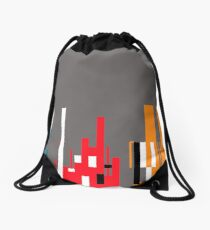Skyline, Generative Art, Data Visualisation Drawstring Bag