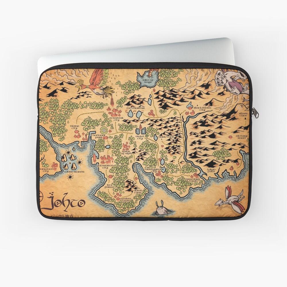 Johto Map Laptop Sleeve