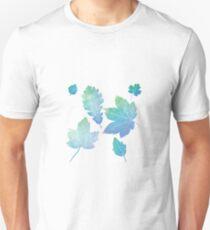 colorfull skeleton Leafs blue T-Shirt