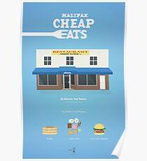 Halifax Cheap Eats - Ardmore Tea Room Poster Poster