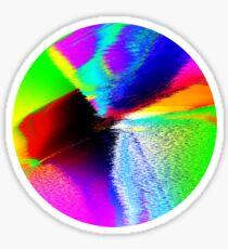 Iridescent Blurred Disk Sticker