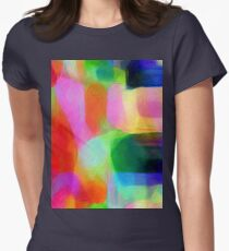 Shades Of Colours Womens Fitted T-Shirt