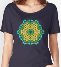Psychedelic jungle kaleidoscope ornament 2 Women's Relaxed Fit T-Shirt