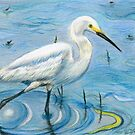 Snowy Egret's Calm Strides by Kashmere1646