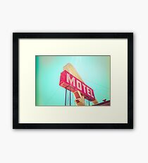 Vintage Americana Motel Sign Framed Print