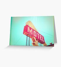 Vintage Americana Motel Sign Greeting Card