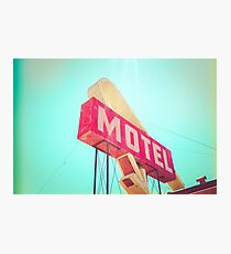 Vintage Americana Motel Sign Photographic Print