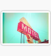 Vintage Americana Motel Sign Sticker