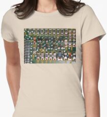 Circuit Board Womens Fitted T-Shirt
