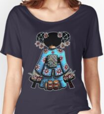Asia Blue Doll (large design) Women's Relaxed Fit T-Shirt