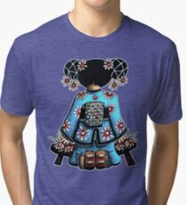 Asia Blue Doll (large design) Tri-blend T-Shirt