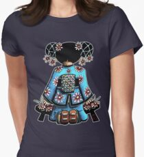 Asia Blue Doll (large design) Women's Fitted T-Shirt