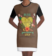 Bless your heart of Gold Graphic T-Shirt Dress