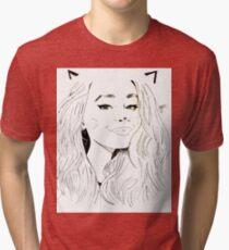 Sabrina Carpenter Drawing Art Tri-blend T-Shirt