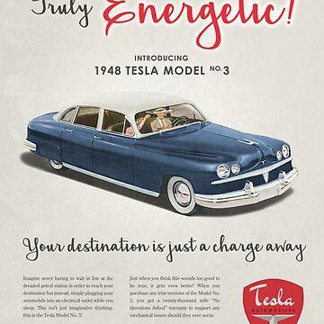 Neo Retro - 1940s Tesla Ad by colinbrunt